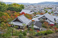 Scenic Top View Of Enkoji Temple And North Kyoto City Skyline During Autumn Royalty Free Stock Photography - 93203847