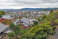 Scenic Top View Of Enkoji Temple And North Kyoto City Skyline During Autumn Stock Photos - 93203893