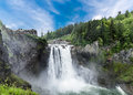 Dramatic Snoqualmie Falls Royalty Free Stock Image - 93211886