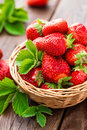 Fresh Strawberry In Basket Royalty Free Stock Photography - 93272677