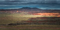 Red Painted Desert And Layers Of Mountains In Petrified Forest National Park, Arizona Stock Photography - 93304702