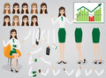 Businesswoman Creation Set Build Your Character Royalty Free Stock Photos - 93305268