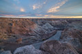Badland Formations, Petrified Wood, And Bentonite Clay Near Blue Mesa Trail During Beautiful Sunset In Petrified Forest Royalty Free Stock Photography - 93306187