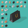 Different Box Vector Isometric Icons Isolated Move Service Or Gift Container Packaging Illustration Stock Image - 93320971