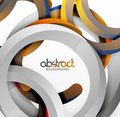 Modern 3d Geometrical Style Background, Arch Circular Lines Royalty Free Stock Images - 93321269