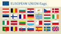 European Union Big Set Flags Royalty Free Stock Photos - 93324358