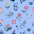 Seamless  Flower Pattern Royalty Free Stock Photo - 93326155