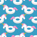 Inflatable Unicorn Pattern. Magic Beast Toy For Swimming Ornamen Royalty Free Stock Images - 93329559