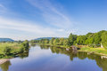 River Weser And Old Wooden Mill Near Minden Royalty Free Stock Photography - 93330847