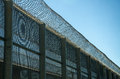 Fence With Barbed Wire Stock Image - 93343901