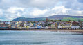 Beautiful Coastline With The Seaside Town Of Peel, Isle Of Man Stock Images - 93344564