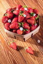 Fresh Strawberries In A Basket Stock Photography - 93353202