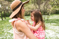 Mum With Small Daughter In Her Arms Stock Images - 93394734