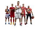 Multi Sport Collage Boxing Soccer American Football Volleyball Bascketball Royalty Free Stock Image - 93401766