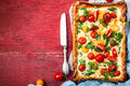 Tomato Puff Pastry Tart Royalty Free Stock Images - 93438969