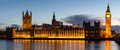 Panorama Of Big Ben And House Of Parliament At River Thames Inte Royalty Free Stock Photography - 93444257
