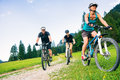 Family Of Three Cycling Royalty Free Stock Photography - 93446137
