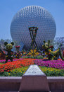 Planet Earth With Flowers & Disney Characters - Epcot Center Stock Photos - 93450883