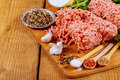 Organic Raw Grass Fed Ground Beef Royalty Free Stock Images - 93455039