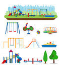 Kids Playground. Buildings For City Construction. Royalty Free Stock Image - 93460996