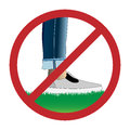 Do Not Step On Grass Sign Stock Image - 93462801