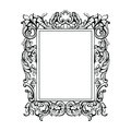 Vintage Imperial Baroque Mirror Frame. Vector French Luxury Rich Intricate Ornaments. Victorian Royal Style Decor Royalty Free Stock Photography - 93467647