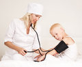 Doctor Examining  Blood Pressure Stock Image - 93484121