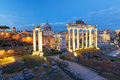 Ancient Ruins Of Roman Forum At Night, Rome, Italy Royalty Free Stock Image - 93498926