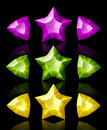 Jewelry Icons Of Stars And Arrows Stock Image - 9352551