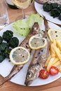 Serving Of Grilled Fish With Spinach Stock Photography - 9358022