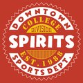 Design Downtown Spirits Royalty Free Stock Photography - 93501667