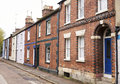 OXFORD/ UK- OCTOBER 26 2016: Exterior Of Victorian Terraced Houses In Oxford Stock Photography - 93532972