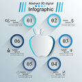 Apple Icon. Abstract 3D Digital Illustration Infographic. Stock Images - 93536794