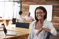 Portrait Of Young Black Woman In Creative Office Royalty Free Stock Photography - 93538867