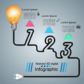 Infographic Design. Bulb, Light Icon. Stock Image - 93539201