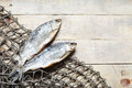 Fishing Nets And Dried Fish. Royalty Free Stock Photos - 93571368