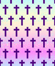 Vanilla Cross.Spooky Seamless Pattern. Halloween Wrapping Paper Royalty Free Stock Images - 93579589