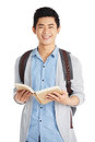 Smart Asian Student With Book Stock Photos - 93594753