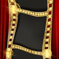Gold Film On The Curtain Backdrop. Stock Image - 93597911