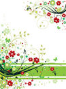 Grunge Floral Background Stock Photo - 9361960