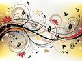 Grunge Floral Background Royalty Free Stock Image - 9361986