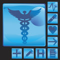 Medical Button Icon Set Royalty Free Stock Images - 9363149