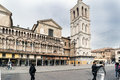 Iews Of The Medieval Square Trento-Trieste Famous For Its Cathed Royalty Free Stock Photography - 93604817