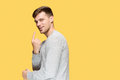 The Young Man Smiling And Looking At Camera Royalty Free Stock Image - 93608926