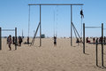 Exercise At Santa Monica Beach Stock Images - 93610904