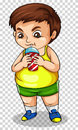 Fat Boy Drinking Soda From Cup Royalty Free Stock Photo - 93619165