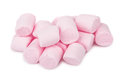 Heap Of Pink Chewing Marshmallow Isolated On White Royalty Free Stock Image - 93620826