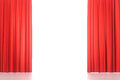 Open Red Stage Curtains Stock Photos - 93624803