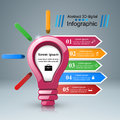 Infographic Design. Bulb, Light Icon. Stock Photography - 93638952