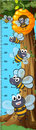 Height Measurement Chart Bees Flying Royalty Free Stock Images - 93688019